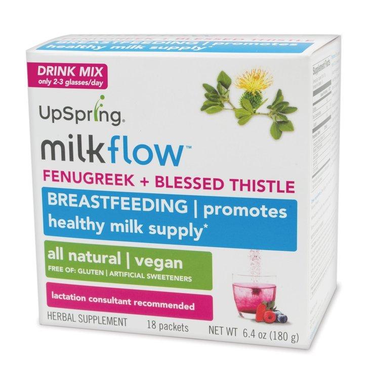UpSpring Milkflow Fenugreek + Blessed Thistle Drink Mix – Berry