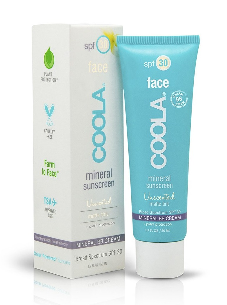 COOLA Mineral Face SPF 30 Unscented Matte Tint Moisturizer