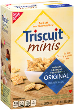 Nabisco Triscuit - Crackers Minis - Baked Whole Grain Wheat Original