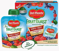 Del Monte® Fruit Burst® Squeezable Fruit Mixed Berry Flavored Fruit