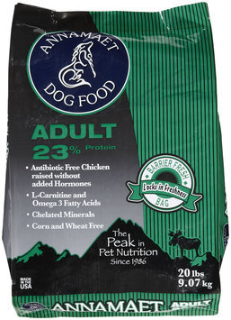 Annamaet Adult 23 Formula Dry Dog Food 20lb
