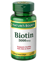 NATURE'S BOUNTY®  Biotin 5000mcg Rapid Release Softgels
