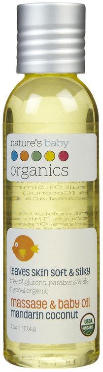 Nature's Baby Organics Baby Oil - Mandarin Coconut - 4 oz