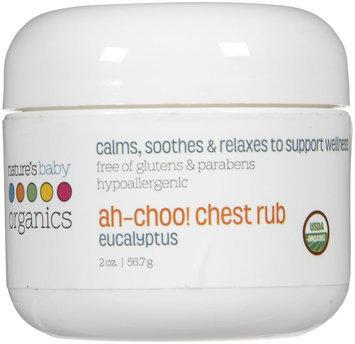 tures Baby Organics Nature's Baby Organics Ah-Choo Chest Rub Eucalyptus 2 oz