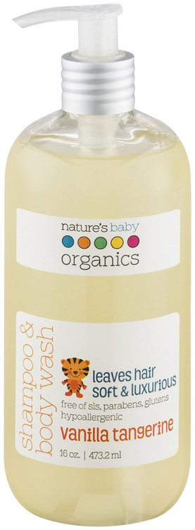 All Natural Shampoo and Body Wash, Vanilla Tangerine, 16 oz, Nature's Baby Products