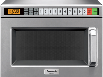 Panasonic 1700 Watt Compact Commercial Microwave Oven with 60 Programmable Memory Pads
