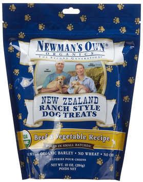 Newman's Own Organics New Zealand Ranch Style Dog Treats Beef & Vegetable