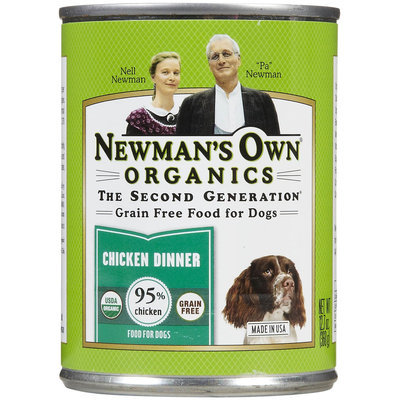 Newman's Own Organics Grain-Free 95% Chicken Dinner Canned Dog Food, 12 count