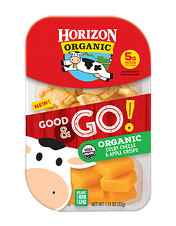 Horizon NEW! Good & Go! Colby & Apple Crisps