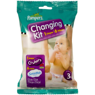 Pampers Changing Kit - Cruisers Diaper and Sensitive Wipes - 1 ct.