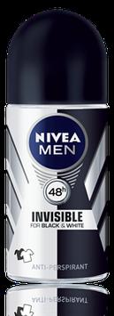 NIVEA Invisible for Black & White Power Roll On Deodorant