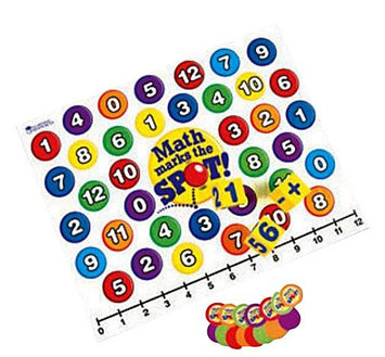 Learning Resources Inc. Learning Resources Math Marks the Spot - A Math Activity Mat