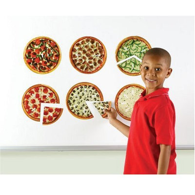 Learning Resources LER5062 Magnetic Pizza Fraction Set