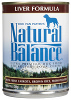 Natural Balance Ultra Premium Liver Formula Canned Dog Food