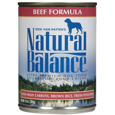 Natural Balance Beef Formula - 12x13oz