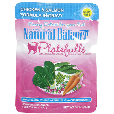 Natural Balance Platefulls - Chicken & Salmon - 24 x 3 oz