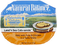 Natural Balance Delectable Delights Land N Sea Cats Serole 2.5 Oz - Case Of 12