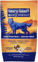 Natural Balance Wild Pursuit Dry Dog Food - Chicken, Turkey Meal & Quail