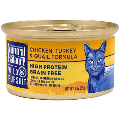 Natural Balance Wild Pursuit Cat Food - Chicken, Turkey & Quail
