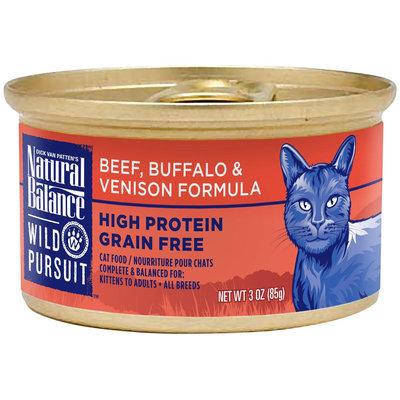 Natural Balance Wild Pursuit Cat Food - Beef, Buffalo & Venison
