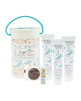 True Vanilla Field Bath Goods Sampling Kit Library of Flowers