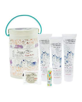 Forget Me Not Bath Goods Sampling Kit Library of Flowers