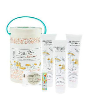Willow & Water Field Bath Goods Sampling Kit Library of Flowers