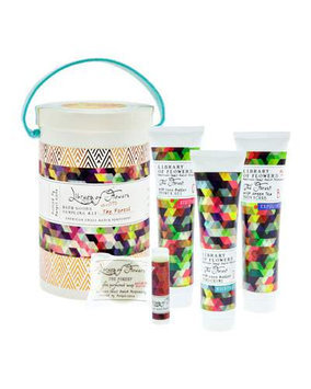 The Forest Field Bath Goods Sampling Kit Library of Flowers