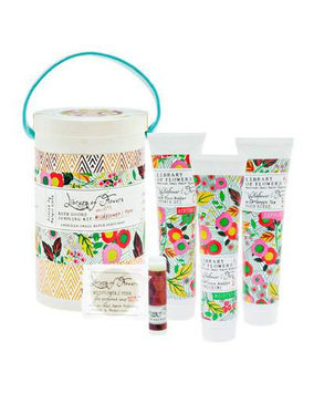 The Wildflower & Fern Field Bath Goods Sampling Kit Library of Flowers