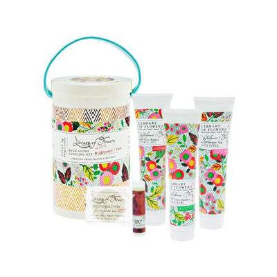 The Wildflower & Fern Field Bath Goods Sampling Kit Library of Flowers