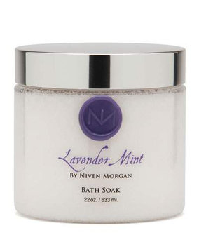 Lavender Mint Bath Salt Jar, 22 oz. - Niven Morgan - Lavender