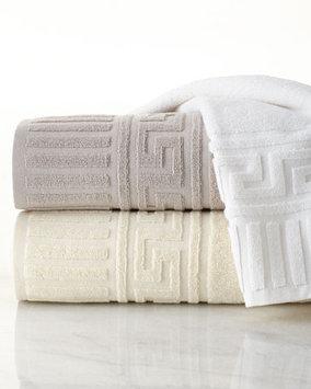 Neiman Marcus Border Greek Key Bath Towel - 29x56 29X56, White