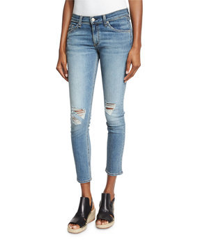 rag & bone/Jean Mid Rise Cropped Skinny Jeans in Murray