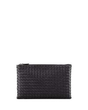 Bottega Veneta Extra Large Flat Cosmetic Bag, Black