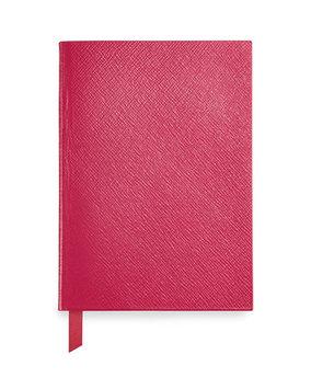 Monogrammed Leather Manuscript Book, Fuchsia - Smythson