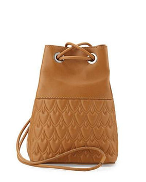 Reece Hudson Bowery Small Leather Bucket Bag, Camel