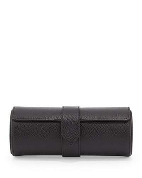 Panama Travel Watch Roll, Black - Smythson