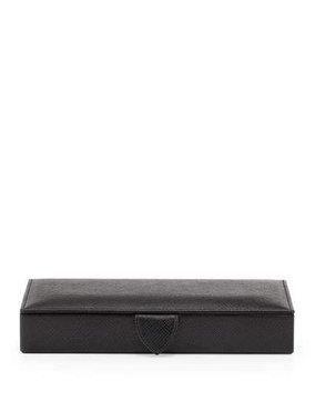 Panama Cuff Link Box, Black Smythson