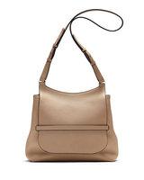 THE ROW Sideby Pebbled Calfskin Shoulder Bag, Beige