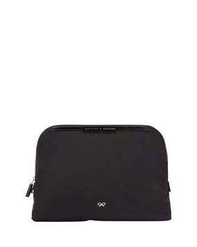 Lotions & Potions Nylon Pouch, Black Anya Hindmarch