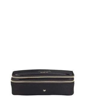 Nylon Make Up Case, Black - Anya Hindmarch