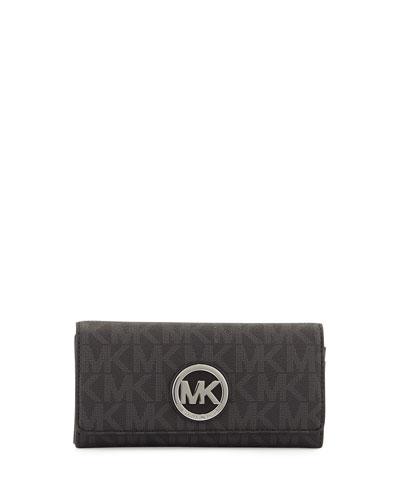 Michael Kors Wallet: Fulton Logo Carryall Wallet in Black