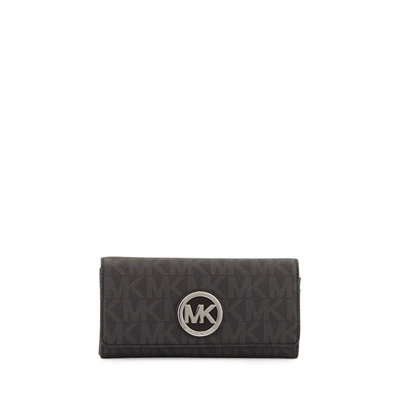 Michael Kors Wallet: Fulton Logo Carryall Wallet in Black