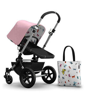 Bugaboo Chameleon3 Andy Warhol Sun Canopy & Tote Bag, Pink/Butterflies