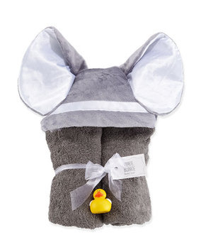 Hooded Elephant Towel, Slate - Swankie Blankie - Slate (One Size)