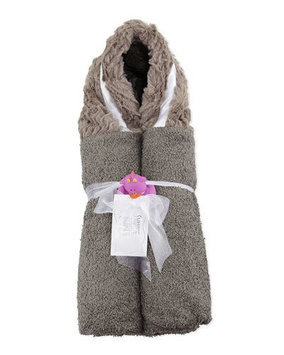 Ziggy Hooded Towel, Slate Swankie Blankie