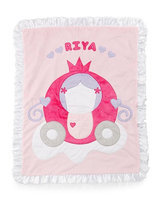 The Carriage Plush Blanket, Pink - Boogie Baby