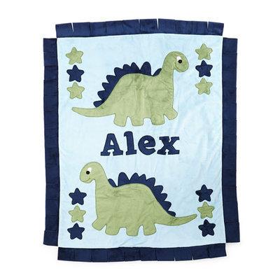 Plush Dino the Dinosaur Blanket, Blue/Green - Boogie Baby