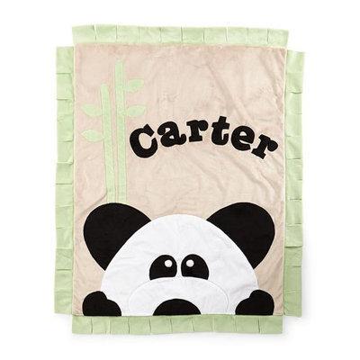 Plush Peek-A-Boo Panda Blanket, Green/Latte - Boogie Baby