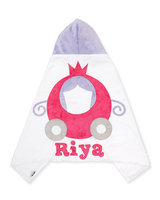 The Carriage Hooded Towel, White/Pink - Boogie Baby